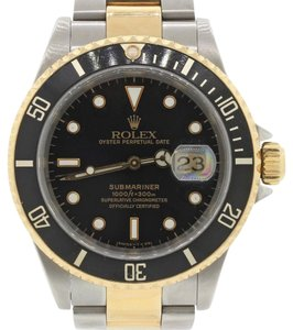 Rolex Rolex Submariner 16613 Steel 18k Gold Black Date Diver Watch w/Box