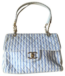 Chanel Blue & White Beach Bag