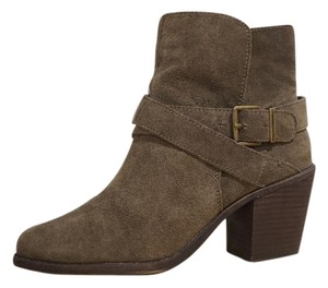 BCBGeneration Chunky Military Suede Strappy Army Green/Tan Boots