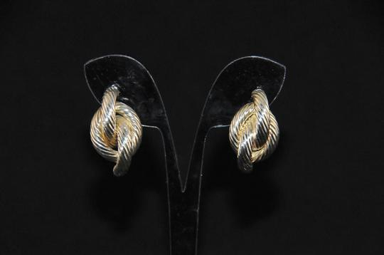 Other 925 Sterling Rope Design Earrings Pierced Style Post & Friction Backs Image 2
