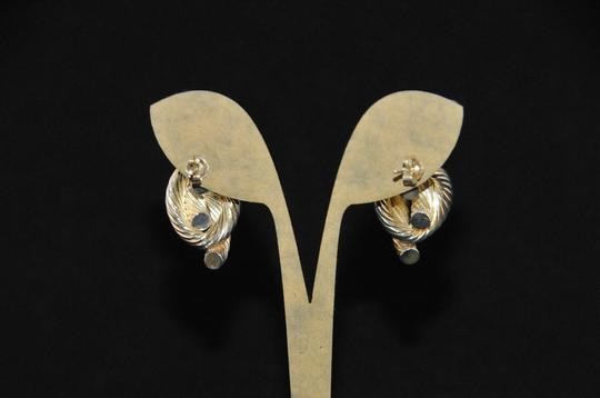 Other 925 Sterling Rope Design Earrings Pierced Style Post & Friction Backs Image 4
