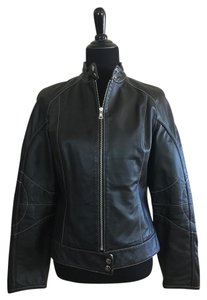 Moda International Motorcycle Leather Leather Jacket