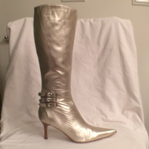 Charles by Charles David New Nwt Sexy Leather Light Gold Boots