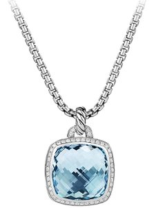 David Yurman Pendant with Blue Topaz and Diamonds