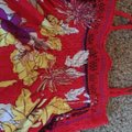 H&M Bright Summer Casual Flowy Bohemian Top red Image 1