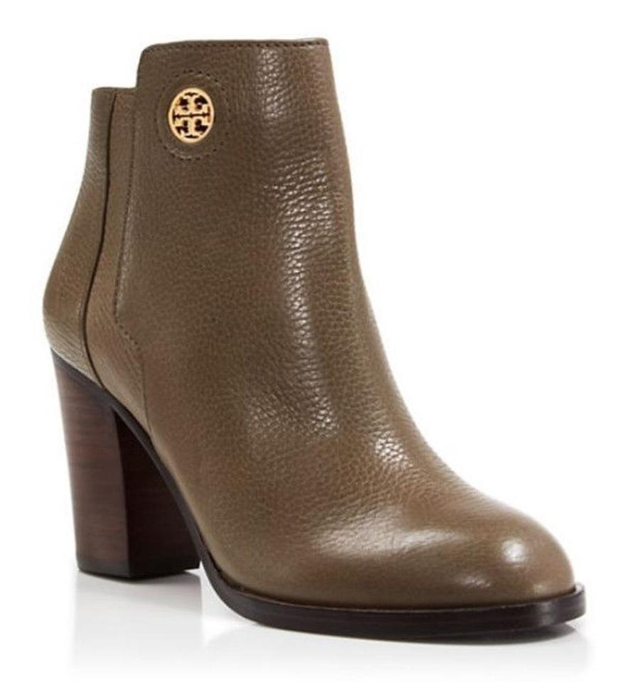 e874e3a278e9 Tory Burch Porcini Junction 85mm Heel Tumbled Leather Boots Booties ...