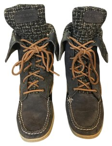 Sperry Boot Lace Up Graphite Suede Boots