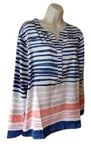 Chico's Long Sleeve Top Multi Color Striped