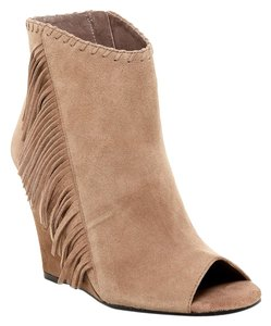 Vince Camuto Fringes Suede Smoke Taupe/ Beige Boots