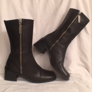 Kenneth Cole Leather Comfortable Black Boots