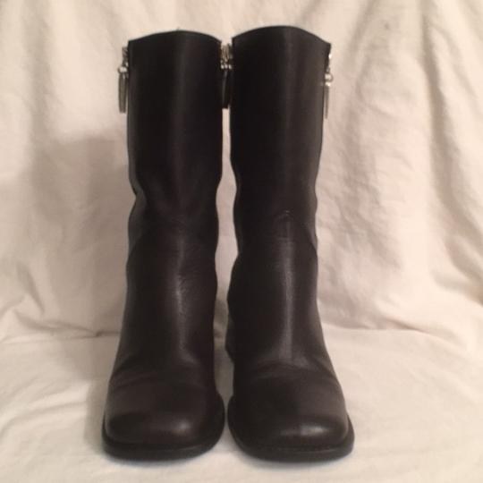 Kenneth Cole Leather Comfortable Hobo International Modern Black Boots Image 1