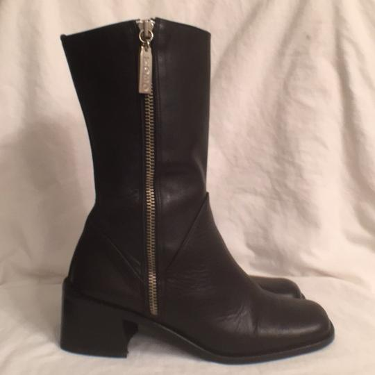 Kenneth Cole Leather Comfortable Hobo International Modern Black Boots Image 2