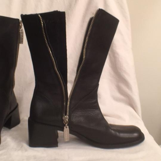 Kenneth Cole Leather Comfortable Hobo International Modern Black Boots Image 6