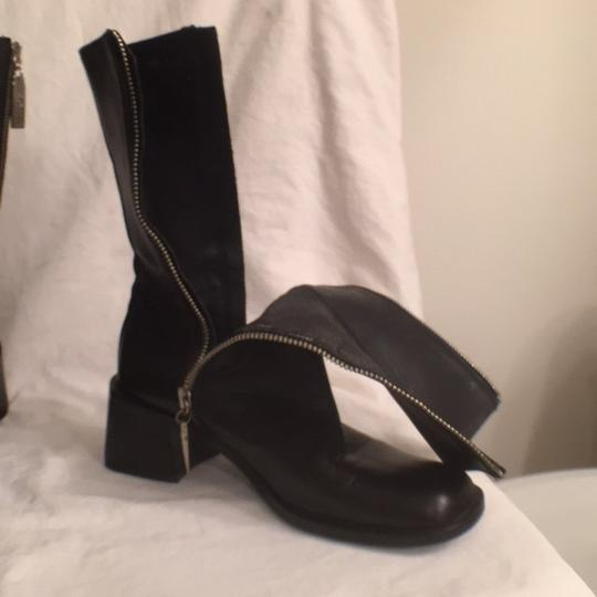 Kenneth Cole Leather Comfortable Hobo International Modern Black Boots Image 7