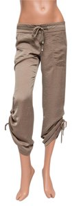 """SW3 Bespoke Draw-string 27"""" Inseam Made In Usa Capri/Cropped Pants Brown"""