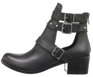 Kensie Studded Leather Bootie Moto black Boots
