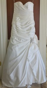 Sottero and Midgley Ivory Satin Campbell Traditional Wedding Dress Size 16 (XL, Plus 0x)