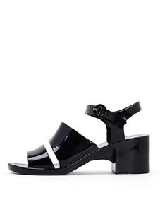 American Apparel Patent Leather Black Sandals