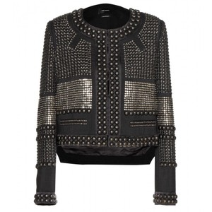 Isabel Marant Studded Embellished Wool Military Jacket