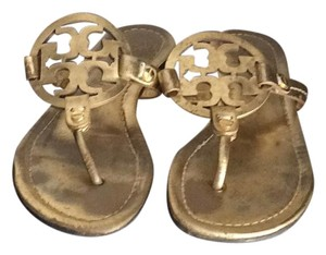 Tory Burch Miller Flats Gold Sandals