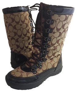 Coach Boot Signature Brown Boots