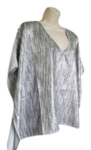 Chico's New With Tags Poncho Top Silver Sequin SZ S/M