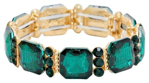 Other Emerald Cut Emerald Green Rhinestone Crystal Bracelet