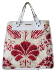 Gucci Vuitton Jackie Jacquard Tote in Red Multi