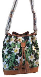 Dooney & Bourke Daffodil Flower Drawstring Coated Cotton Shoulder Bag