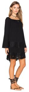 BCBGeneration short dress black Lace Boho Gauze Night Out on Tradesy