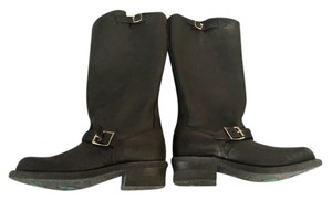 Frye Motorcycle Leather Classic black Boots