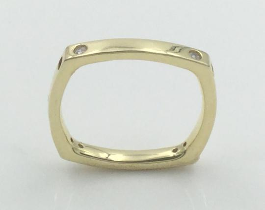 Other Yellow Gold Plated .925 Sterling Silver CZ Square Cocktail Ring Image 1