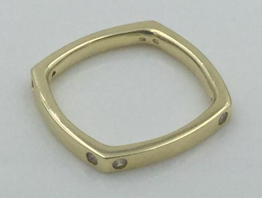 Other Yellow Gold Plated .925 Sterling Silver CZ Square Cocktail Ring Image 10