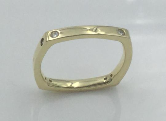 Other Yellow Gold Plated .925 Sterling Silver CZ Square Cocktail Ring Image 2