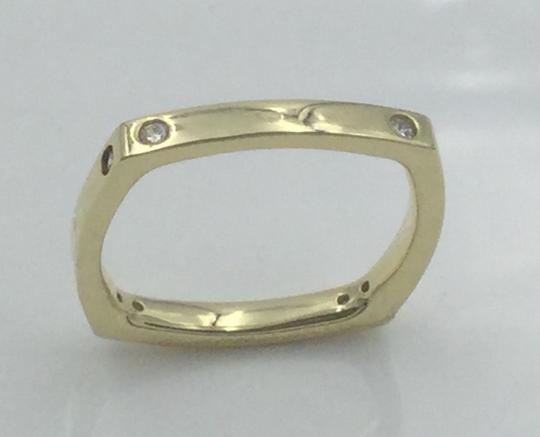 Other Yellow Gold Plated .925 Sterling Silver CZ Square Cocktail Ring Image 3