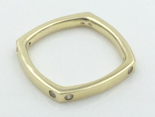 Other Yellow Gold Plated .925 Sterling Silver CZ Square Cocktail Ring Image 7