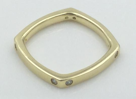 Other Yellow Gold Plated .925 Sterling Silver CZ Square Cocktail Ring Image 8
