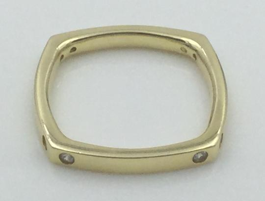 Other Yellow Gold Plated .925 Sterling Silver CZ Square Cocktail Ring Image 9