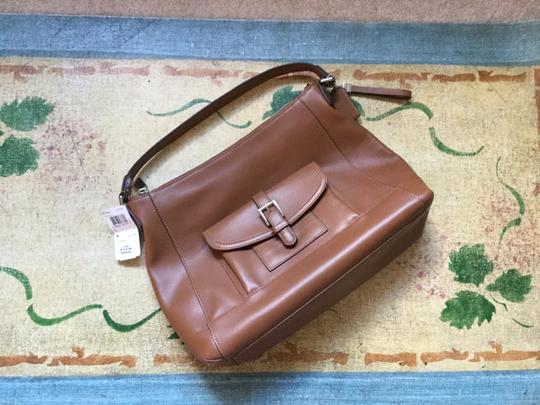 Coach High Quality Leather Satchel in Tan Image 1