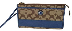Coach Signature C Wristlet Wallet Blue