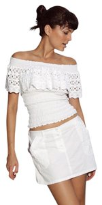 Lirome Country Western Summer Top White
