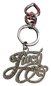 Juicy Couture NWT! JUICY COUTURE CRAZY BLING SILVER PAVE KEYFOB CHARM!
