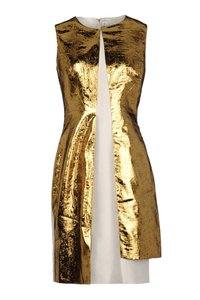 Prabal Gurung Metallic Silk Dress