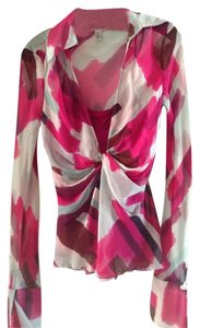 Diane von Furstenberg Dvf Top Pink and Blue