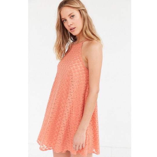 0fdc288b0434 Urban Outfitters Orange Kimchi Blue Lace Crochet Halter High Neckline Dress  - 40% Off Retail