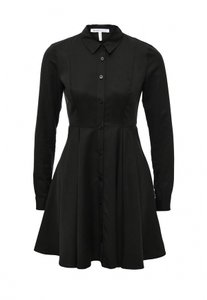BCBGeneration Work Shirting Fitted Flare Dress
