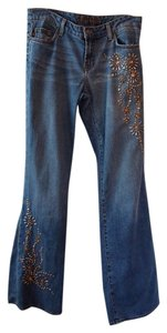 Streets Ahead Distressed Crystal Boot Cut Jeans-Distressed