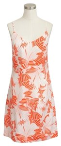 J.Crew short dress Persimmon Ivory Floral Tank Beach Wear Orange Tropical on Tradesy
