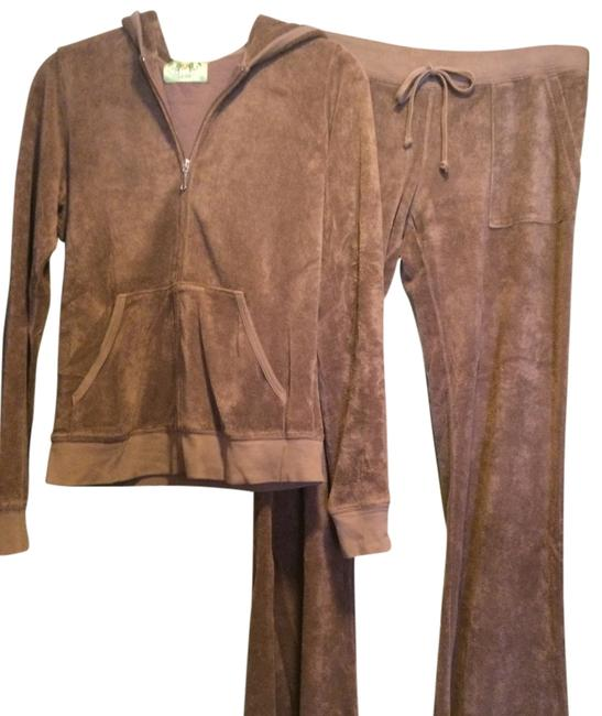 Item - Brown Terry Cloth Sweat Suit Activewear Outerwear Size 8 (M, 29, 30)