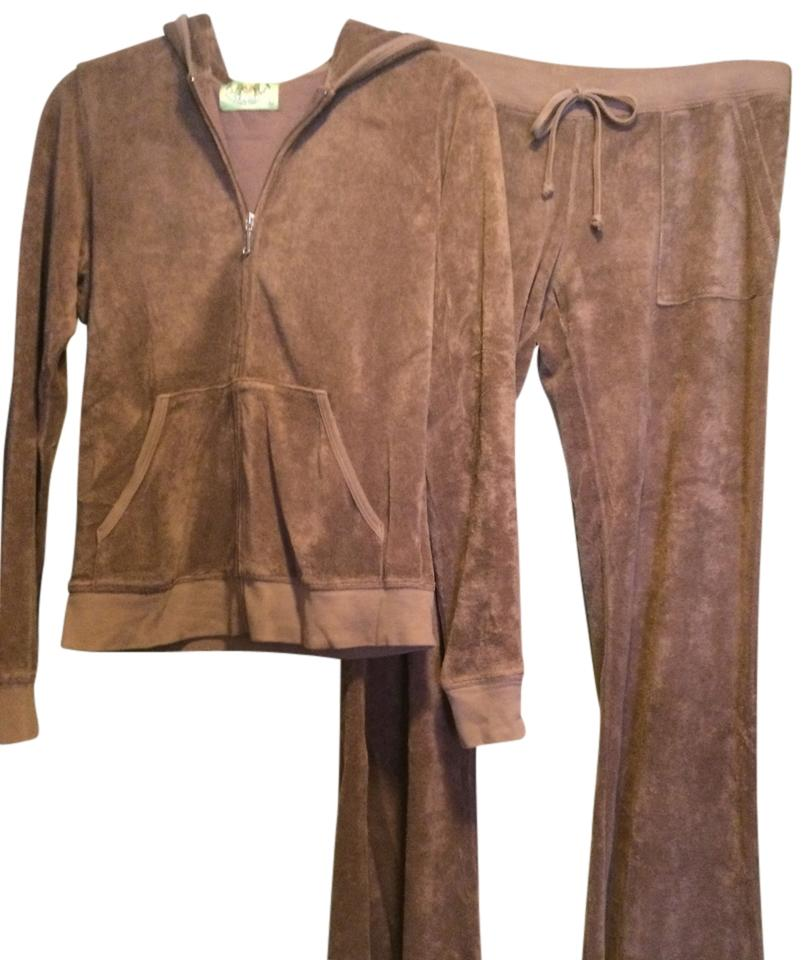 4c6339599025 Juicy Couture Brown Terry Cloth Sweat Suit Activewear Outerwear Size ...